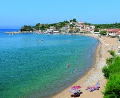 BEACH IN FINIKOUNDA, GREECE ~ many tourists use this beach.