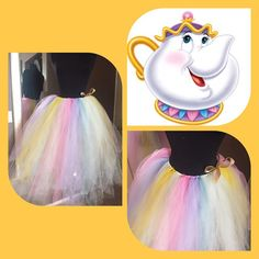 Adult long Mrs.Potts inspired tutu by magicalWDWcouture on Etsy
