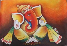 Buy Artist ARTOHOLIC Paintings Online. We ship worldwide.Colorful Ganesha Painting is available for sale online at Fizdi.com.