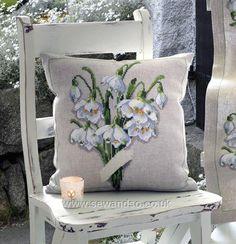 Snowdrops cushion