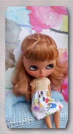 Dress for Blythe doll sweater + FREE SHIPPING by Shopdollwithowl on Etsy