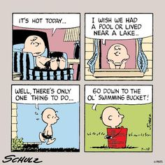 Poor Charlie Brown.  Maybe you could get your folks to spring for a blow-up pool.