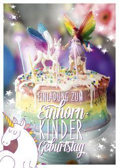 #Einhorn #Kindergeburtstag #Geburtstag #Mädchen #Einladungskarte #ausdrucken #Trend #Ideen #unicorn #kids #birthday