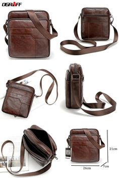 2788d76a3a  Visit to Buy  OGRAFF Men messenger bags genuine leather bag casual small  business vintage