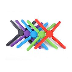 Husbaby 5 Pack Foldable Silicone Trivets Pot Coaster Mat Holder