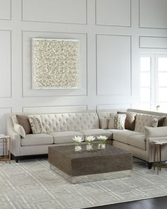 HCF17_H8B1T - Horchow - Linzie Linen Sofa sectional - $4899. Love.
