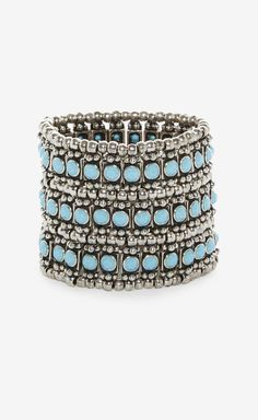 Philippe Audibert S Ilver And Sky Blue Bracelet