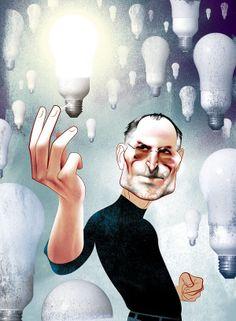 """""""Steve Jobs"""" , made by: André Carrilho  - (Lightbulbs)"""