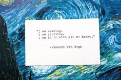 Discover and share Van Gogh Quotes Tattoos. Explore our collection of motivational and famous quotes by authors you know and love. Pretty Words, Beautiful Words, Cool Words, Wise Words, Tattoo Quotes For Women, Woman Quotes, Intj, Quotes To Live By, Me Quotes