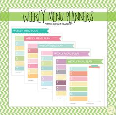 Use this super simple menu planner set to keep your weekly meals, grocery list, and grocery budget in check. Start your planning on whatever