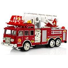Fire Engine Truck Kids Toyl Kids Toy with Extending Ladder & Lights & Siren Sounds Vocal Phrases Bump & Go Action Truck Detailing, Play Vehicles, Randal, Fire Engine, Fire Trucks, Ladder, Kids Toys, Engineering, Action