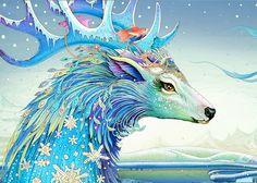 """Check out this @Behance project: """"Winter deer"""" https://www.behance.net/gallery/32353027/Winter-deer"""