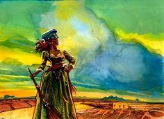 "Sarah ""Great Western"" Bowman by Bob Boze Bell"