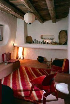 pinkpagodastudio -  Georgia O'Keefe's living room, NM