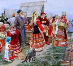 Долгая Ольга Петровна «Свенская ярмарка» (деталь)