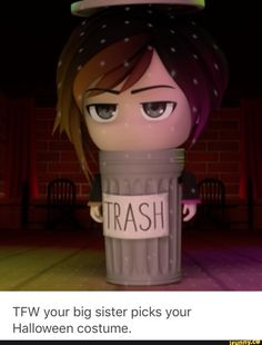 Aaaawwwwww poor Ruby, don't worry you're still adorable in that trash can.