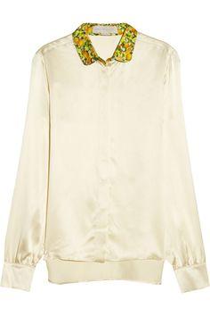 Sale - Juliana Contrasting Collar Dobby Spot Blouse - Stella McCartney Kids Stella McCartney Cheap Amazing Price alAEhfMbJN