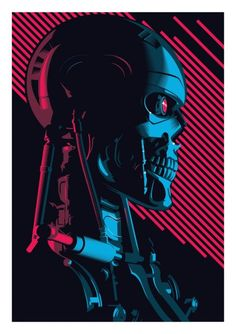 The Terminator Screen Print Vector Poster Art created for London Film and Comic Con 2017 James Cameron, T 800 Terminator, Terminator Movies, Skynet Terminator, Science Fiction, Fiction Movies, New Retro Wave, Retro Waves, Iconic Movies
