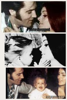 Elvis and Priscilla FAKE using images from two separate original photos