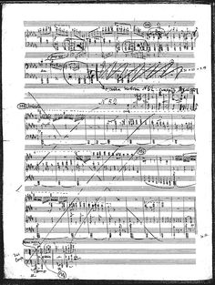 "Prokofiev; page from the original ""Romeo and Juliet"" manuscript."