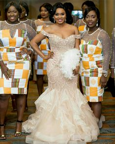 Look Stunning, Slinky & Hot With The Latest Kente Styles African Wedding Attire, African Attire, African Dress, African Wear, African Print Fashion, African Fashion Dresses, Africa Fashion, African Traditional Wedding Dress, Kente Dress