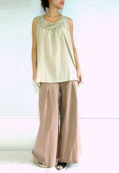 Women Blouse /  Sleeveless Blouse / Maternity Blouse by idea2wear, $34.50