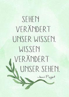 Wissen veraendert Sehen, Lettering Card, Quote Art, Word… #spaß #ausrede #werkennts #witzig #fun #instafun