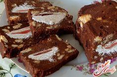 торт с печеньем и зефиром