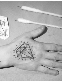 45 Luxury Diamond Tattoo designs and meaning - Treasure for you Check more at http://tattoo-journal.com/30-common-diamond-tattoo-designs/
