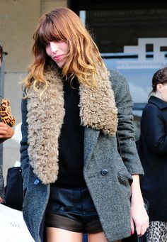 Lou Doillon. I would love to find this Vanessa Bruno coat!