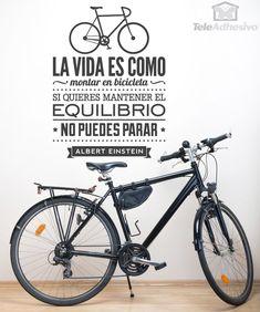 Vinilos Decorativos: La vida es como montar en bicicleta... 1