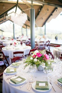Thomas Fogarty Winery- Outdoor Covered Dining Reception