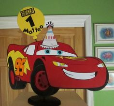 Car Birthday Centerpieces by cricflix on Etsy, $20.00
