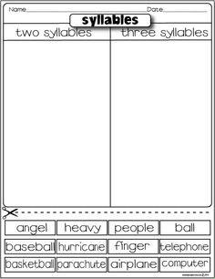 Syllables freebie