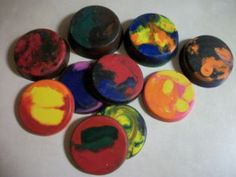 Recycle Old Crayons into Crayon Cookies