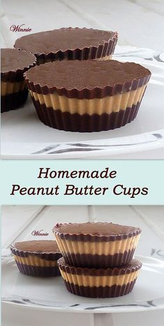 Homemade Peanut Butter Cups #chocolate #no-bake #peanut-butter