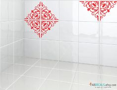 Kitchen / Bathroom Tiles Decoration Vinyl Decal , Moroccan Pattern, 32 Triangle Kit - ID661