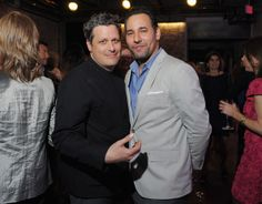 Designer/host Isaac Mizrahi and husband Arnold Germer