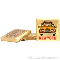 NYCwebStore.com - Taxi Chocolate Square, $0.50 (http://www.nycwebstore.com/taxi-chocolate-square/)