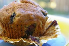 Easy Moist Banana Blueberry Muffins. Photo by Redsie