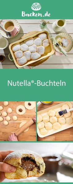Nutella®-Buchteln - recipe from Backen.de - These fluffy Buchteln are a real classic. Coupled with Nutella® they are well received by everyone - Healthy Dessert Recipes, Fun Desserts, Cake Recipes, Breakfast Recipes, Dinner Recipes, Yogurt Breakfast, Savory Breakfast, Breakfast Burritos, Breakfast Bowls