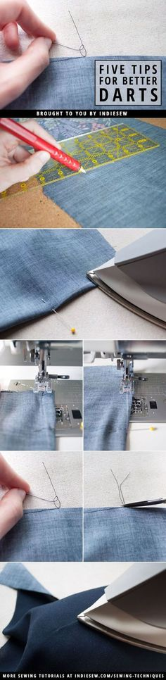 Find out how to achieve nearly invisible darts with these five easy steps! | Indiesew.com | Best and Essential Sewing Tips, Tools, and Tricks for Beginners | Sewing Hacks | Learn How to Sew | Sewing Tutorials and Instruction | Simple Sewing Techniques