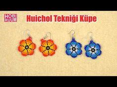 Beaded Flowers Patterns, Beaded Earrings Patterns, Crochet Earrings, Gold Jewelry Simple, Simple Necklace, Rakhi Design, Bracelet Crafts, Earring Tutorial, Seed Bead Jewelry