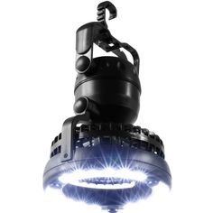 Add light and a nice breeze to your tent with this two-in-one LED camping light. The lightweight and portable fixture is weather resistant and features a dual-speed fan and a built-in handle with hanging hook to keep you cool and comfortable.