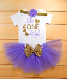 Hey, I found this really awesome Etsy listing at https://www.etsy.com/listing/451694284/purple-and-gold-first-birthday-outfit