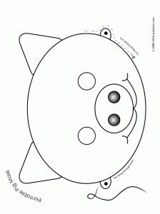 Horse mask printable coloring page for kids Kids Crafts