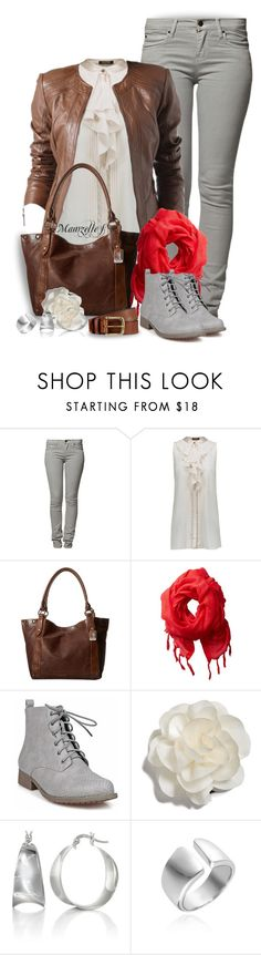 """""""Jeudi tout gris"""" by mamzelle-f ❤ liked on Polyvore featuring Peoples Market, Roberto Cavalli, Promod, Frye, Love Quotes Scarves, Cara, Belk & Co., grey, brown and fashionset"""