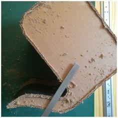 Carton techniques on pinterest cardboard furniture for Finition meuble en carton