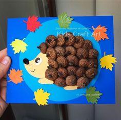 Autumn crafts Hedgehog - Fall Crafts For Kids Cheap Fall Crafts For Kids, Easy Fall Crafts, Art For Kids, Craft Activities For Kids, Kids Crafts, Diy And Crafts, Arts And Crafts, Toddler Crafts, Fox Crafts