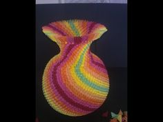 ▶ How to make 3d origami Rainbow Vase part1 - YouTube